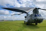 Chinook en exposition statique à Duxford avant sa présentation en vol