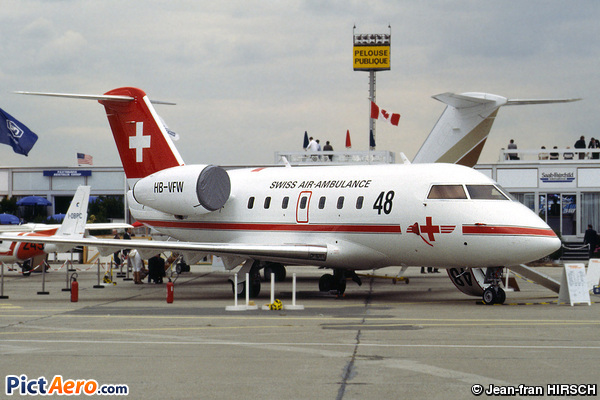 Canadair CL-600-1A11 Challenger (Swiss Air-Ambulance)