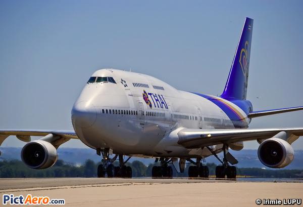 Boeing 747 Thai Airways Boeing 747-4d7 Thai Airways