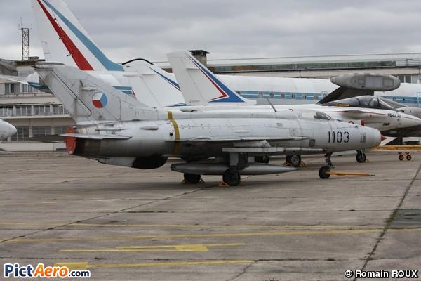 Aero Vodochody S-106 (MiG-21F-13 Fishbed) (Musée de l'Air et de l'Espace du Bourget)