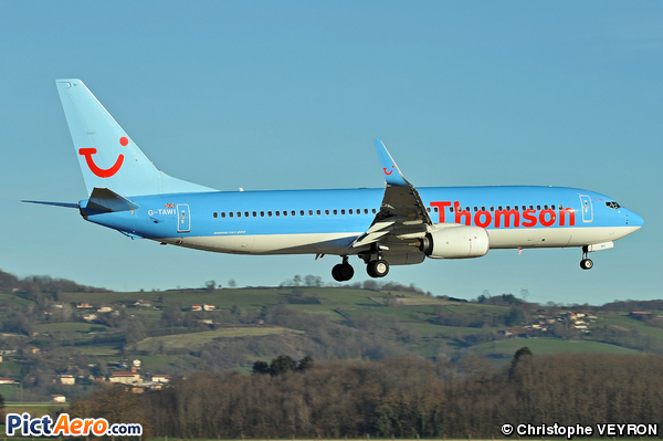 Boeing 737-8K5/WL (Thomson Airways)