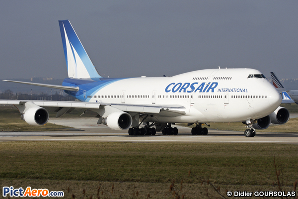 Boeing 747 422 f gtui corsair international par didier for Plan de cabine boeing 747 400 corsair