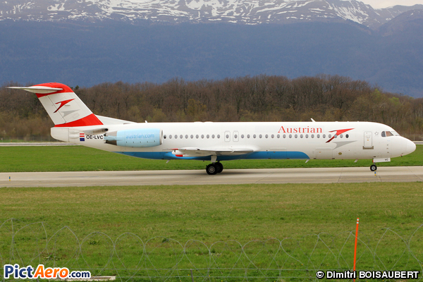 Fokker 100 (F-28-0100) (Austrian arrows)