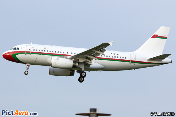 Airbus A319-133X/CJ (Oman - Air Force)