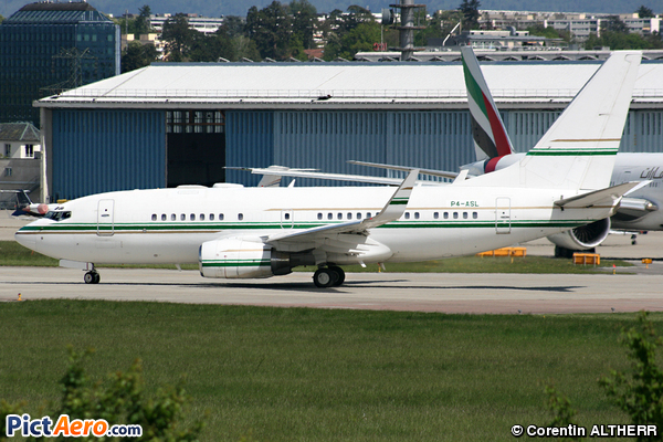 Boeing 737-7BH/BBJ (Arabasco Flight Operations)