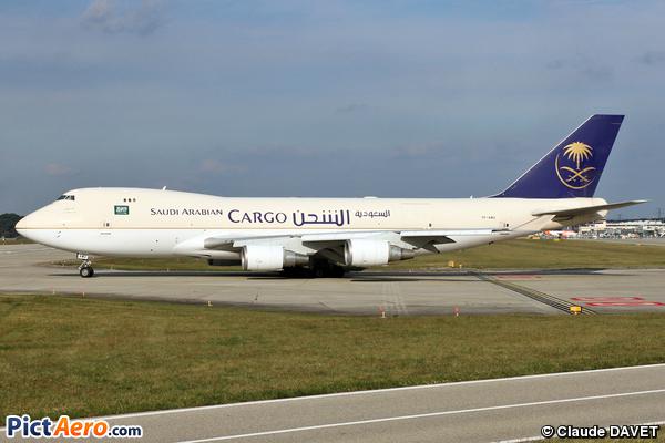 Boeing 747-48EF/SCD (Saudi Arabian Airlines Cargo)