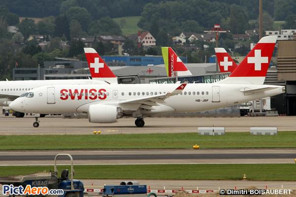 Bombardier CSeries CS100 (BD-500-1A10) (Swiss)