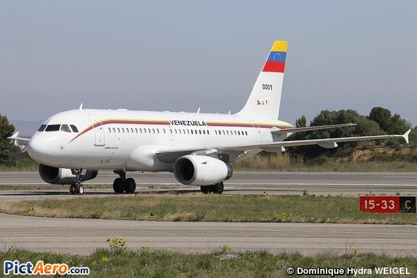 Airbus A319-113X CJ (Républica Bolivariana)