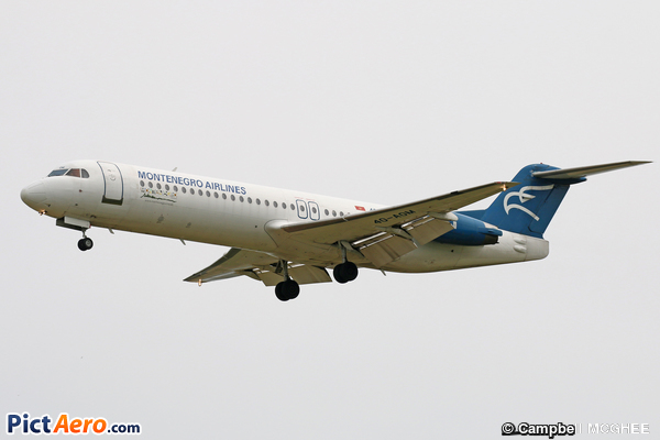Fokker 100 (F-28-0100) (Montenegro Airlines)
