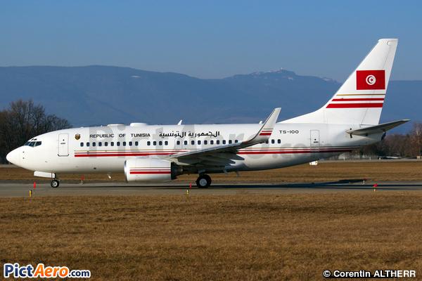 Boeing 737-7H3/BBJ (Tunisia - Government)