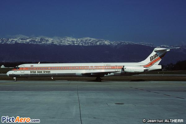 McDonnell Douglas MD-83 (DC-9-83) (British Island Airways)