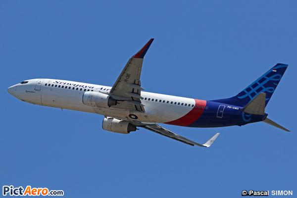 Boeing 737-8BK/WL (Sriwijaya Air)